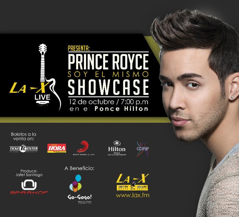 La X Live Concert Series presenta a PRINCE ROYCE