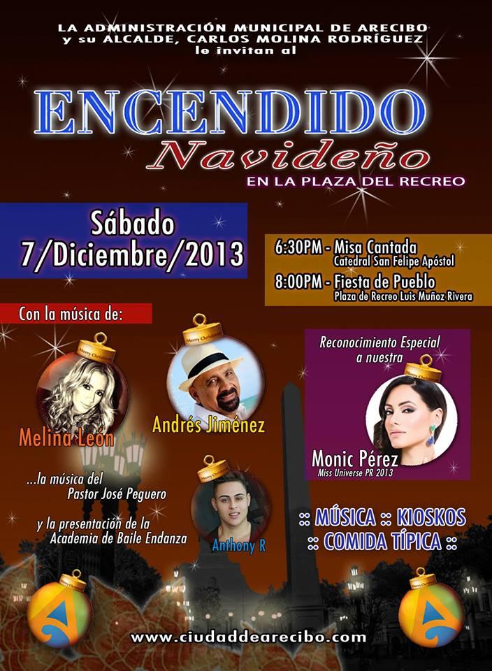 Tras duro año Arecibo enciende Navidad con fiesta de pueblo
