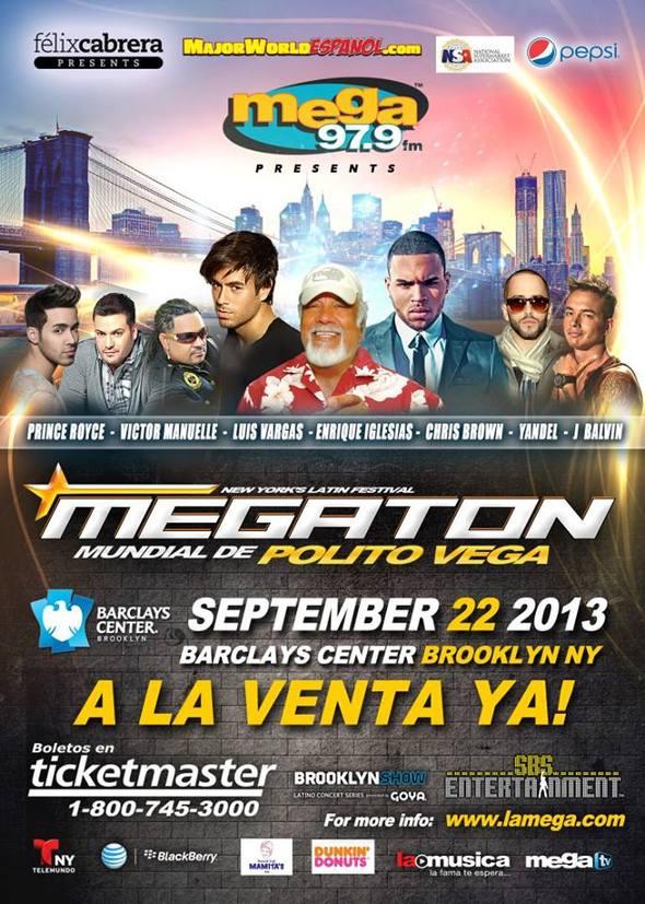 """Felix Cabrera, SBS Entertainment y Mega 97.9FM anuncian """"El Megatón Mundial de Polito Vega"""" el domingo 22 de septiembre en el Barclays Center de Brooklyn, NY"""