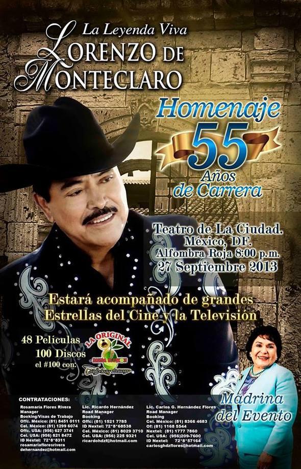 CON UNA FIESTA MUSICAL CELEBRÓ LORENZO DE MONTECLARO 55 AÑOS DE CARRERA