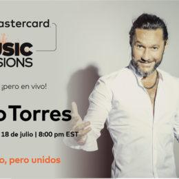 El cantante Diego Torres se integra a la colección de experiencias digitales
