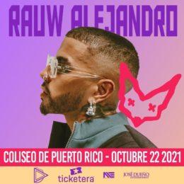 RAUW ALEJANDRO CONFIRMA SU MAGNO CONCIERTO EN COLISEO DE PUERTO RICO