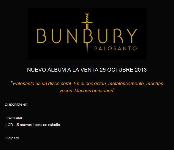 PALOSANTO…LO NUEVO DE BUNBURY