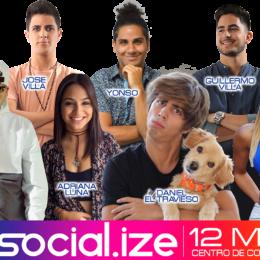 """Conoce a  tús """"influencers"""" favoritos más allá de las redes sociales en la segunda edición del Social.ize."""