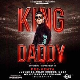 """Comienza la pre-venta de boletos de """"King Daddy: El Concierto"""" en el Madison Square Garden"""