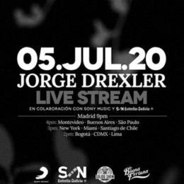 JORGE DREXLER realizará un concierto en directo