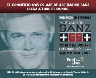 El concierto Más es Más de Alejandro Sanz llega a todo el mundo