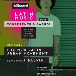 J Balvin liderará panel en el marco de la Conferencia Latina de Billboard 2015