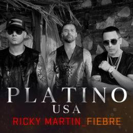 """FIEBRE"""" de RICKY MARTIN feat. WISIN y YANDEL certifica disco de platino"""