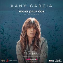 KANY GARCÍA regresa con CONCIERTO virtual presentando su nuevo álbum Mesa para Dos