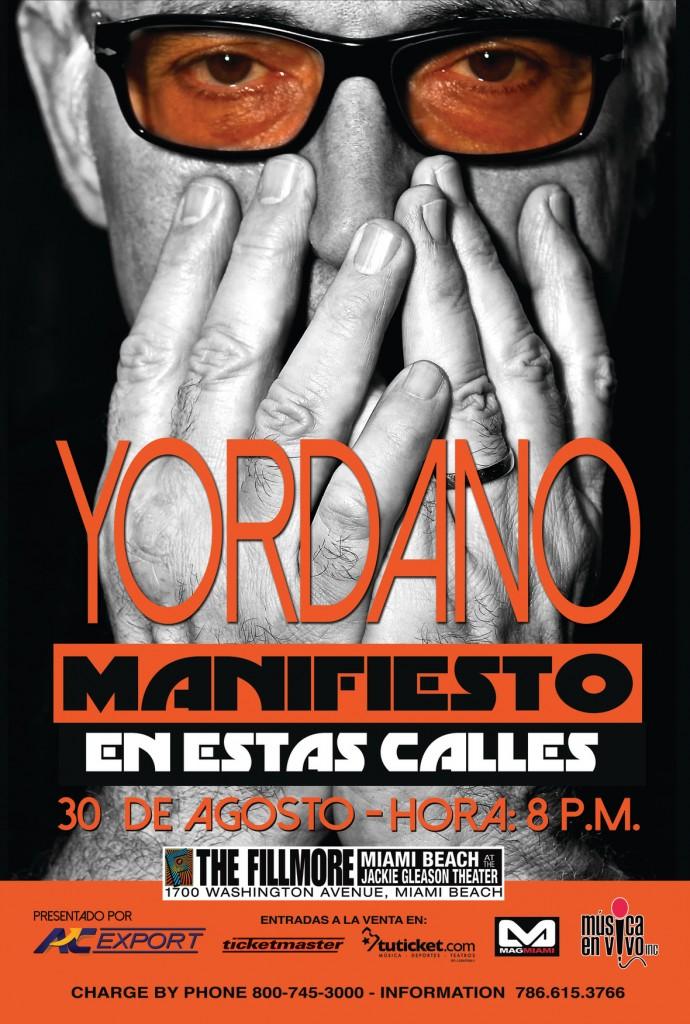 """Yordano de """"Manifiesto"""" en Miami Beach"""