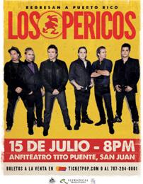 Los Pericos de vuelta a Puerto Rico en Concierto este 15 de Julio