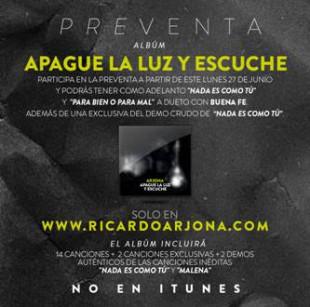 Arjona – Le dice NO a Itunes