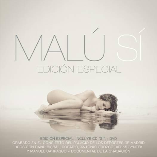 Malú reina en las listas de ventas con el álbum 'Sí' y el DVD de su concierto en Madrid en el número 1